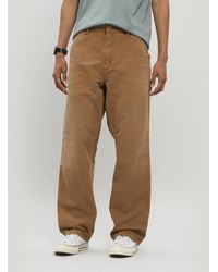 Carhartt WIP Aged Single Knee Canvas Trousers - Brown