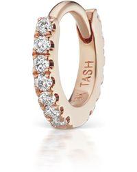 "Maria Tash 3/16"" Diamond Eternity Hoop Earring - Multicolour"