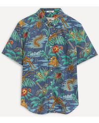 Reyn Spooner Buggin' Out Pull-over Shirt - Blue