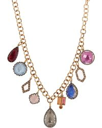 Larkspur & Hawk - Gold And Silver Lady Emily Gemstone Necklace - Lyst