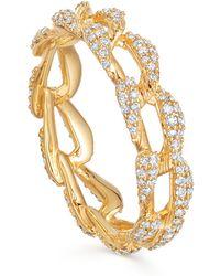 Astley Clarke Gold Vela Diamond Eternity Ring - Metallic