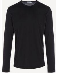 Sunspel Long Sleeve T-shirt - Black
