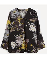 Oska Guthito Floral Blouse - Black
