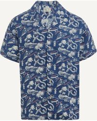 Reyn Spooner Okole Maluna Shirt - Blue