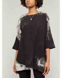 Crea Concept Paint Print Tunic - Black