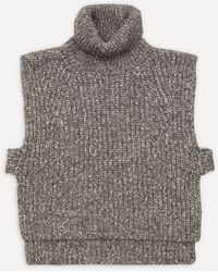 Étoile Isabel Marant Megan Turtle-neck Knit Vest - Grey