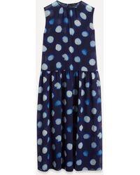 Paul Smith Tagliatelle Spot Dress - Blue
