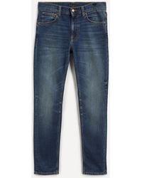 Nudie Jeans Lean Dean Jeans In Worn Indigo - Blue