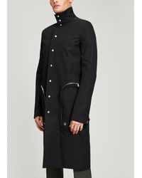 Rick Owens Zip Pocket Long Nylon Coat - Black