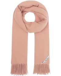 Acne Studios Canada New Wool Scarf - Pink