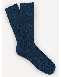 Pantherella Rye Recycled Cotton Socks - Blue