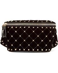 Valentino - Rockstud Spike Velvet Belt Bag - Lyst