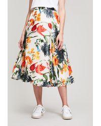 Alice + Olivia - Earla Floral Skirt - Lyst