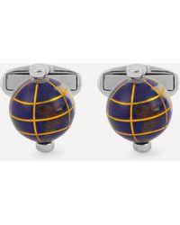 Paul Smith Spinning Globe Cufflinks - Blue