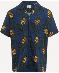 Reyn Spooner Whacky Pineapple Print Camp Collar Shirt - Blue