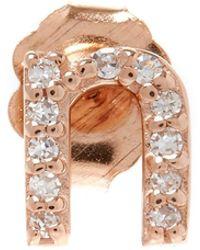 KC Designs - Rose Gold Diamond M Single Stud Earring - Lyst