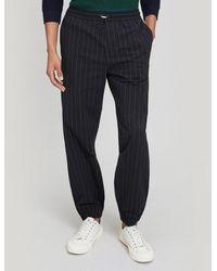 Paul Smith Pinstripe Poplin Pants - Black