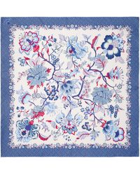 Liberty Christelle 90 X 90cm Silk Twill Scarf - Blue