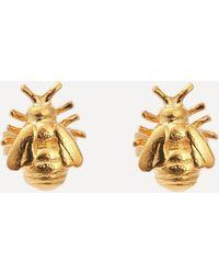 Alex Monroe Gold-plated Little Bee Stud Earrings - Metallic