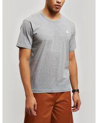 Acne Studios Nash Face Cotton T-shirt - Grey