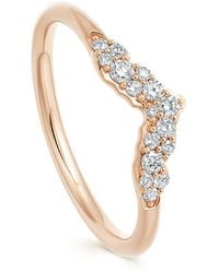 Astley Clarke Rose Gold Interstellar Axel Diamond Ring Jacket - Metallic