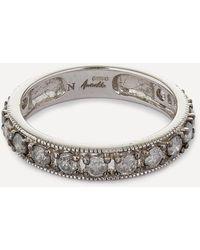 Annoushka 18ct White Gold Dusty Diamonds Eternity Ring - Metallic