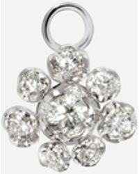 Annoushka 18ct White Gold Marguerite Single Diamond Flower Earring Drop - Multicolour