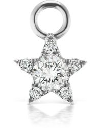 Maria Tash Diamond Star Charm - White