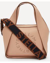 Stella McCartney Mini Stella Logo Faux Leather Cross-body Bag - Multicolour