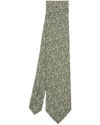 Liberty Wincle Printed Silk Tie - Green