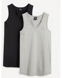 Christopher Kane 2 Pack More Joy Embroidered Vests - Black