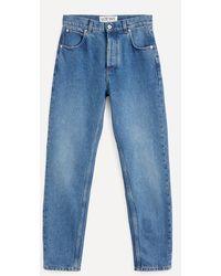 Loewe Anagram Logo Pocket Tapered Jeans - Blue