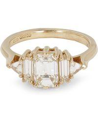 Anna Sheffield - Gold Theda White Diamond Ring - Lyst