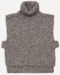 Étoile Isabel Marant Megan Turtle-neck Knit Vest - Gray