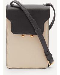 Marni Trunk Mini Vertical Leather Cross-body Bag - Black