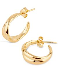 Dinny Hall - Gold Vermeil Twist Small Hoop Earrings - Lyst
