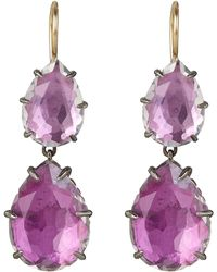 Larkspur & Hawk - Large Silver Caterina Double Drop Earrings - Lyst