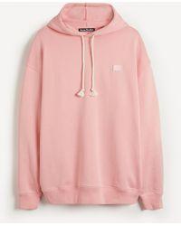 Acne Studios Face Hooded Sweatshirt - Pink