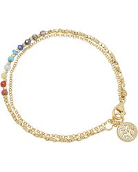 Astley Clarke Gold Plated Vermeil Silver Tree Of Life Rainbow Biography Bracelet - Metallic