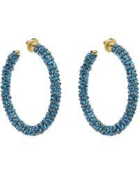 Oscar de la Renta - Beaded Hoop Earrings - Lyst