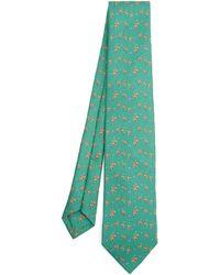 Drake's Ostrich Tie - Green
