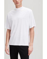 Acne Studios Pink Label Mock Neck T-shirt - White