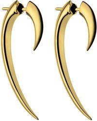 Shaun Leane - Gold Vermeil Hook Earrings - Lyst
