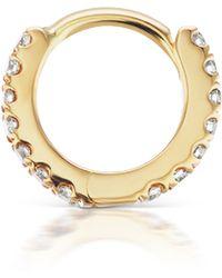 "Maria Tash 3/16"" Diamond Eternity Hoop Earring - Metallic"