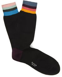 Paul Smith Artist Stripe Socks - Black