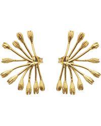 Alex Monroe - Gold-plated Fanned Seed Pod Stud Earrings - Lyst