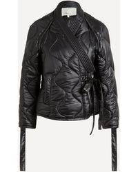 3.1 Phillip Lim Padded Nylon Utility Kimono Jacket - Black