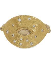 Brooke Gregson - Gold Talisman Engraved Diamond Ring - Lyst