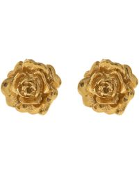Alex Monroe - Gold-plated Rose Damasca Stud Earrings - Lyst