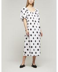 Mara Hoffman Romina Polka-dot Cotton Midi-dress - Multicolor